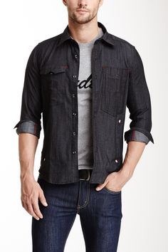 Fender Raw Black Denim Shirt on HauteLook