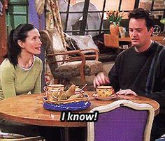 6. Courteney Cox was asked to play Rachel, but in true Monica fashion, she told them she was Monica, not Rachel.