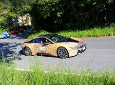 Art car Bmw i8 in Mille Miglia 2016