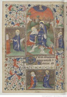 From 'Livre d'heures, en latin et en français, à l'usage de Troyes' 1401-1500