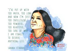 """Continuing the revolutionary love note series with Sandra Cisneros. Currently reading """"A House of my Own"""" and relishing on the memories of this amazing chingona elder. Reminding myself of my power, of..."""