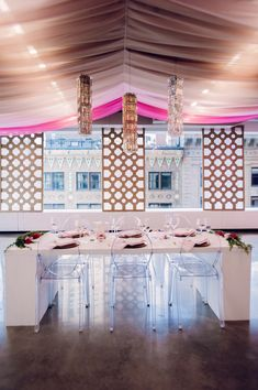 modern wedding inspiration - photo by Shannon Grant Photography http://ruffledblog.com/rose-quartz-wedding-inspiration #weddingreception #receptions