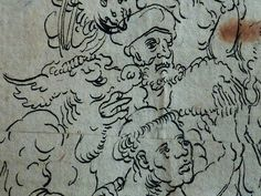 "CRANACH Lucas (Ecole) - Le Jugement Dernier (drawing, dessin, disegno-Louvre INV18929) - Detail 30  -  TAGS / details détail détails dessins disegno drawings figures people ""dessins 16e"" ""16th-century drawings"" Paris France Museum ""l'Ancien"" Allemagne Germany anges angels angel girl fille jeune hommes monster Hell enfer paradis paradise God Dieu Vices Vice love amour young woman femme bare naked nude nue female women enfant kid kids children child man men face faces visage portrait portraits"