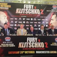 We're live at the Tyson Fury v Klitschko 2 press conference in London.