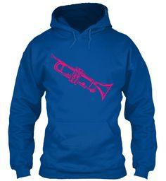 Trumpet (Hoodie) Royal Sweatshirt Front