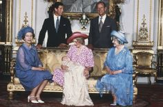 Princess Diana with Prince William after his christening