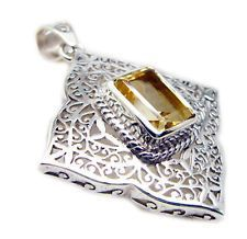 inviting Citrine 925 Sterling Silver Yellow Pendant gemstones US gift