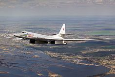 The Tupolev Tu-160 Beliy Lebed (or White Swan[1], Russian: Туполев Ту-160, NATO reporting name: Blackjack) is a supersonic, variable-sweep wing heavy strategic bomber designed by the Tupolev Design Bureau in the Soviet Union.