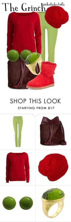 """The Grinch"" by pickedadaytofly ❤ liked on Polyvore featuring 7 For All Mankind, VILA, Marguerite de Valois and UGG Australia"
