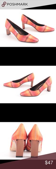 """BRAND NEW gorgeous red & orange satin Proxy heels Brand new, never worn. Beautiful made in Spain satin design, ~ 2"""" - 3"""" heels. Insoles and soles are leather. Heals are made out of unique shiny brass-like material. Truly one of a kind! Open to reasonable offer or bundle 2 for 15% off! Proxy Shoes Heels"""