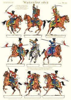 Lancieri del 3  rgt. cavalleggeri della guardia imperiale francese