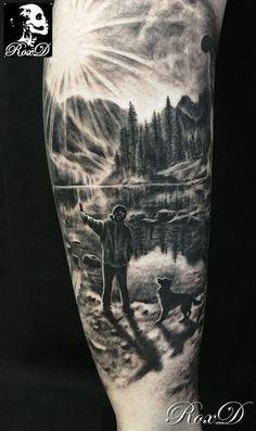 Mountain Sleeve Tattoo, Forest Tattoo Sleeve, Animal Sleeve Tattoo, Nature Tattoo Sleeve, Forest Tattoos, Nature Tattoos, Half Sleeve Tattoos For Guys, Full Arm Tattoos, Best Sleeve Tattoos