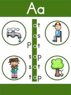 Free Reading Adventures 1 Unit 1 >> Reading CVC words using letters s, a, t, and p.
