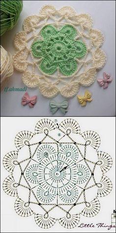 Cute & Beautiful Crochet Design Patterns and Ideas - Diy Crafty Crochet Flower Squares, Crochet Butterfly Pattern, Flower Pattern Design, Crochet Flower Tutorial, Design Patterns, Crochet Flowers, Knitting Patterns, Crochet Patterns, Crochet Buttons