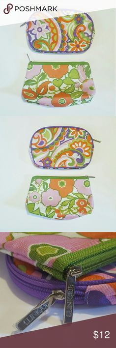 "Clinique Floral Makeup Bag Bundle Both bags brand new. One has the protective plastic over the tag (see 3rd pic). Both are in beautiful floral prints. Pics taken with and without flash.  Each bag measures roughly 9"" x 6"" when laid flat. Clinique Bags Cosmetic Bags & Cases"