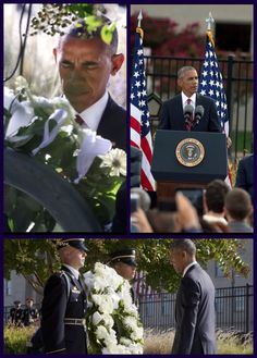 President Of The United States 🇺🇸 Barack Obama Lays Wreath At Pentagon.                                                                                                                                                     Más