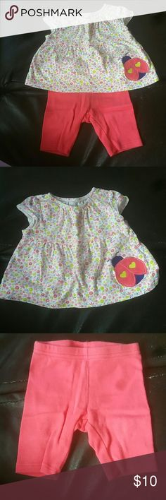 Gently used baby clothing Top is 60% cotton and 40% Viscose Bottoms are 100% cotton Cute matching lady bug outfit. (Dog driendly home) Child of Mine Matching Sets