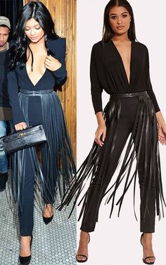 Dee Black Faux Leather Extreme Fringe Belt Black Faux Leather Extreme Fringe Belt Be a bohemian queen this season with this statement fring… Gothic Fashion, Diy Fashion, Fashion Dresses, Womens Fashion, Fashion Belts, Petite Fashion, Curvy Fashion, Fall Fashion, Style Fashion