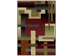 Mayberry City Angles Rectangular Brown Area Rug