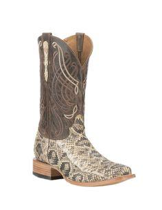 Old Gringo Men's Natural Snake Skin with Brown Goat Upper Exotic Square Toe Boots | Cavender's