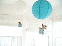2 Hot Air Balloon Mobile hot air ballon bleu par SimplyChicLily
