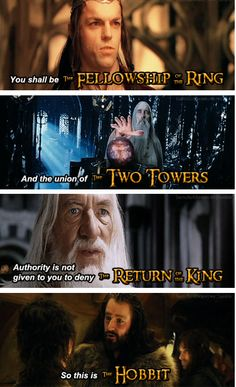 The titles in the movies.