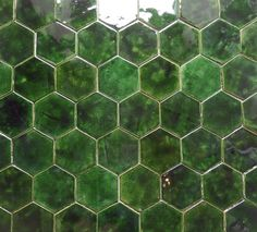 Keramische Fliesen, handgefertigt und glasiert, heksageny Diagonale 14,5 cm, Wand- und Bodenfliesen.
