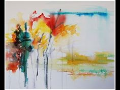 Paint an abstract landscape in watercolour! Youtube video | Angela Fehr