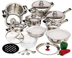 **HOT DEAL** Stainless Steel Cookware Set 28 pcs just $126.65 Shipped! ($1,100 Reg Price) - TrueCouponing