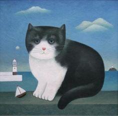 British Artist Martin LEMAN-St Ives Cat