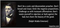 cynic disconsolate preacher emerson quotes - Google Search