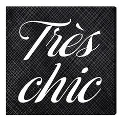 Oliver Gal 'Tres Chic' Wall Art ($105) ❤ liked on Polyvore featuring home, home decor, wall art, backgrounds, text, words, black, phrase, quotes and saying