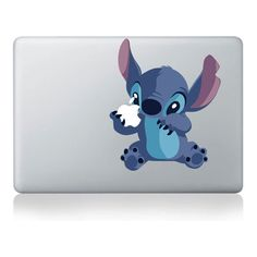 Stitch--Macbook Decal Mac book Stickers Macbook Decals Apple Decal for... ($8.99) ❤ liked on Polyvore featuring electronics, accessories, phones, laptops and tech
