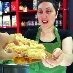 La focaccia amb mortadel·la de la Maria Pia va ser un vist i no vist als #tastets del #mercat de Lesseps! #tapa