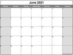 June 2021 calendar | free printable calendar templates Blank Monthly Calendar Template, Free Printable Calendar Templates, Monthly Calendars, Printables, Online Calendar, 2021 Calendar, Weekly Calendar, Calendar Ideas, February