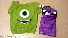 Crazy Happy Casa: DIY Mike Wazowski and Boo costumes. Monsters Inc costumes