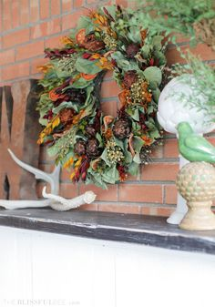 Outdoor Fall Fireplace | The Blissful Bee