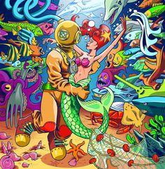 Daniele Pasquetti (mail: danielepasquetti1@gmail.com) #palombaro #sirena #siren #fish # underwater #love