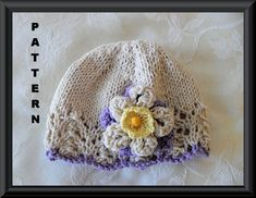 Knitting Pattern for a Baby Hat-Knitted Children Clothing Pattern-Baby Easter Cloche Pattern-Hand Knitted BABY HAT PATTERN-Easter Colors