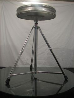 Dewey Drum Throne in Museum Condition from 1960's Silver Sparkle Naugahyde Seat | eBay