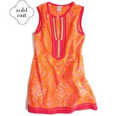 Andrika Beaded Dress in Orange