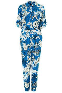 Tropical Palm Print Boilersuit