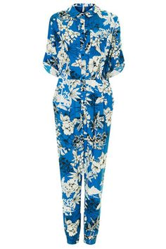 Tropical Palm Print Boilersuit