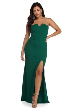 Carmen Notch And Slit Formal Dress c49f99ec9