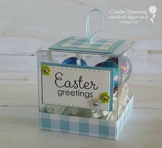 Stampin' Up! Fable Friends Easter gift box. Art with Heart Team Easter blog hop.