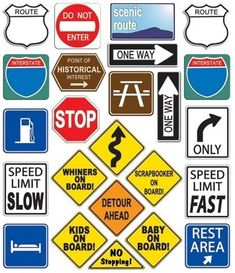 scrapbooking travel stickers | product index road trip signs large scrapbooking stickers