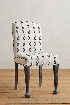 Cross-Stitched Dining Chair