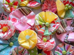 My Blonde Ambitions: Fabric Flower Tutorial....I might have pinned this already but I am planning on making them soon...