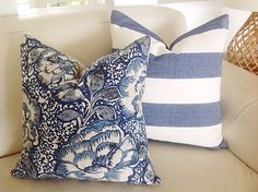 These Navy Blue and Ivory cushions will look stunning in your beach house! Use them to compliment your coastal Hamptons style in your lounge room or your bedroom. I love to make custom orders so if you would like something else made in this fabric please dont hesitate to ask. Perhaps a table runner or lampshade or a big floor cushion with piping or pom poms? Striped Fabric is 100% heavy weight textured cotton. Same fabric on both sides and has an invisible zipper. All seams are overlocked…