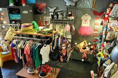 Les Pensées de Violette kids store, shop interior. Boutique enfants deco. Bastia, France.
